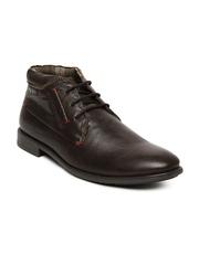 Numero Uno Men Dark Brown Leather Casual Shoes