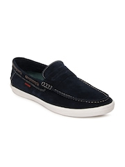 Numero Uno Men Navy Suede Casual Shoes