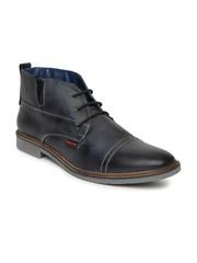 Numero Uno Men Blue Leather Casual Shoes