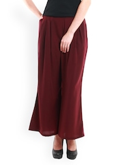 Nun Women Burgundy Palazzo Trousers