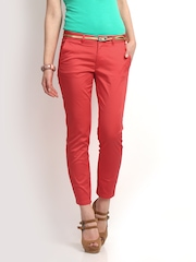 ONLY Women Coral Pink Nini Trousers