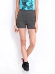ONLY Play Women Dark Grey Melange Shorts