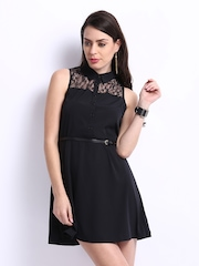 ONLY Black Fit & Flare Dress