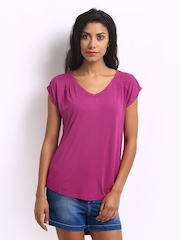 ONLY Women Fuchsia Pink Frida Top