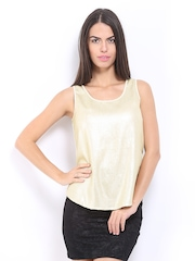 ONLY Women Gold Sequined Top