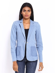 ONLY Women Blue Denim Blazer