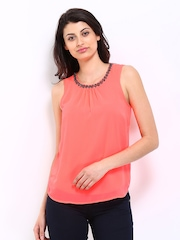 ONLY Women Neon Pink Top