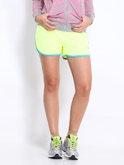 ONLY Play Women Neon Green Shorts