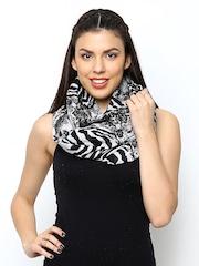 ONLY Women Grey & Black Printed Snood
