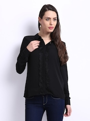 ONLY Women Black Sheer Shirt