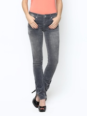 ONLY Women Grey Corduroy Trousers