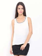 ONLY Women White Ally Beaded Top