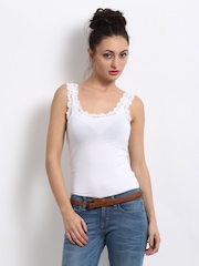 ONLY Women White Dora Lace Tank Top