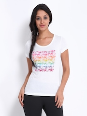 ONLY Play Women White Printed T-shirt