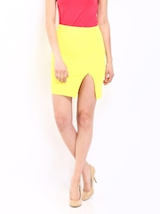 ONLY Bright Yellow Pencil Skirt