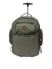 OTLS Unisex Green Trolley Backpack