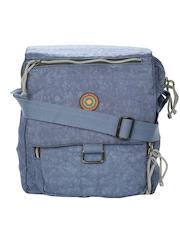 OTLS Unisex Blue Vertical Messenger Bag