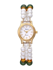 Oleva Women White Dial Watch OPW_96_DS