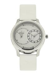 Olvin Men White Dual Dial Watch 1577 SL01