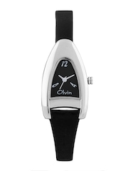 Olvin Women Black Dial Watch