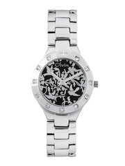 Olvin Women Black Dial Watch