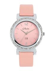 Olvin Women Pink Dial Watch