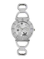 Olvin Women Silver Toned Dial Watch