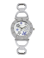 Olvin Women Silver Toned Dial Watch