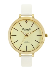 Omax Women Gold Toned Dial Watch