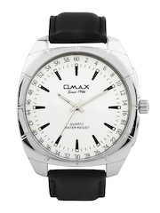 Omax Unisex White Dial Watch
