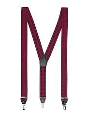 Orosilber Men Burgandy Dhoom 3 Suspenders