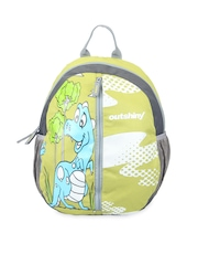 Outshiny Unisex Green Dino Backpack