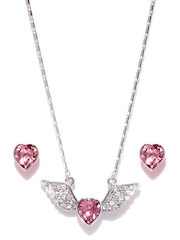 SWAN By Silver-Toned Jewellery Set With Swarovski Elements Ouxi