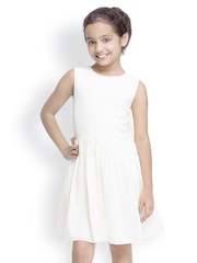 Oxolloxo Girls Off-White Fit & Flare Dress
