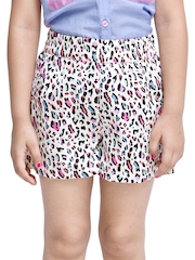 Oxolloxo Girls Multi-Coloured Printed Shorts