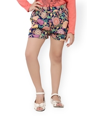 Oxolloxo Girls Multicoloured Printed Shorts