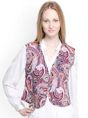 Oxolloxo Women Mulicoloured Printed Waistcoat