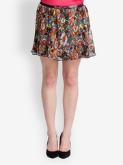 Oxolloxo Multi-Coloured Printed Flared Skirt