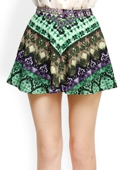 Oxolloxo Multicoloured Printed Flared Skirt