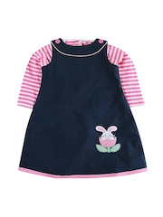 Oye Girls Navy Blue Clothing Set