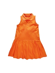 Oye Girls Orange A-Line Dress