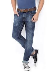 POE Men Blue Die Hard Slim Fit Jeans