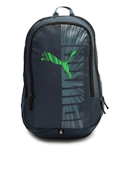 PUMA Unisex Blue Graphic Backpack