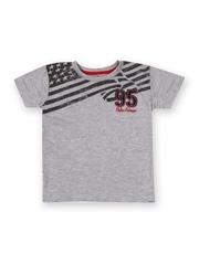 Palm Tree Boys Grey Printed T-shirt