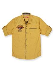 Gini & Jony Boys Mustard Yellow Shirt