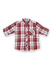 Palm Tree Boys Red & White Checked Shirt