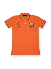 Palm Tree Boys Orange Polo T-shirt