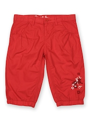 Gini & Jony Girls Red Capris