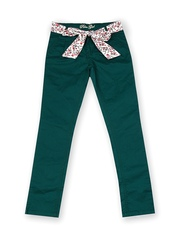 Palm Tree Girls Green Trousers