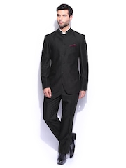 Park Avenue Men Black Slim Fit Single Breasted Suit